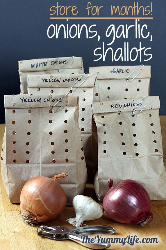 How To Store Onions Garlic Amp Shallots