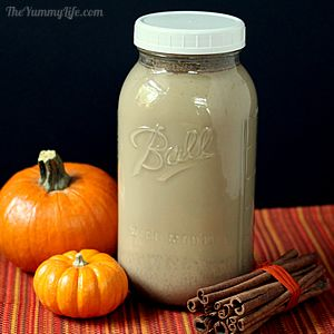 Jar of Maple Pumpkin Spice Lattes