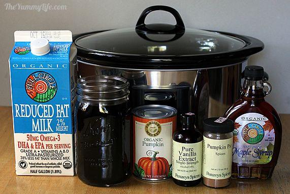 Maple Pumpkin Spice Latte ingredients