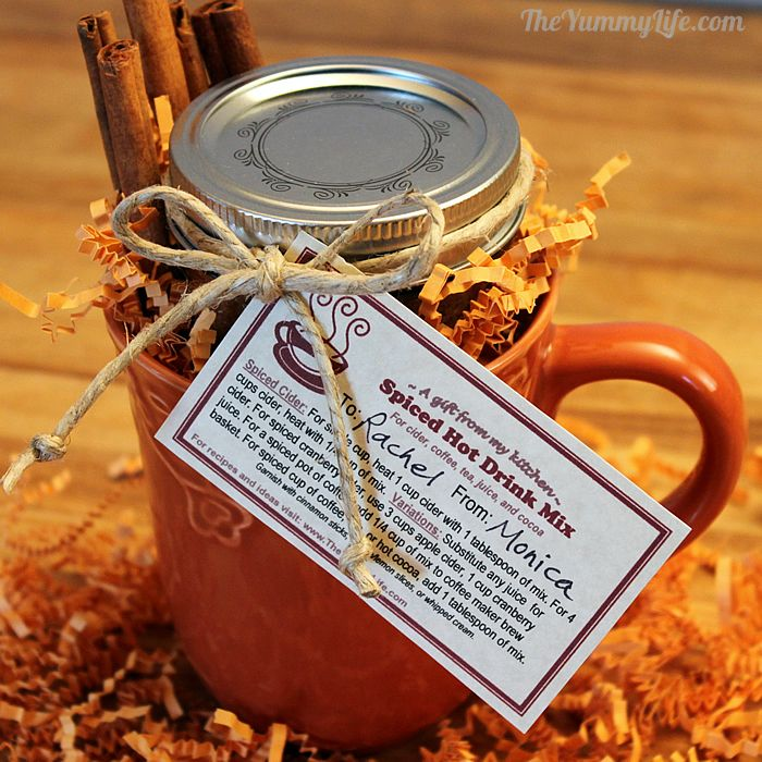 Make A Spiced Hot Drink Mix Gift Jar