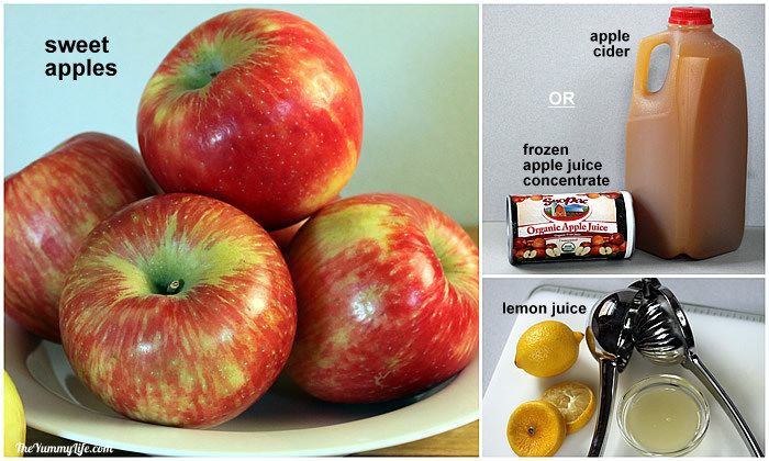 ingredients for Fruit & Spice Applesauce Blends