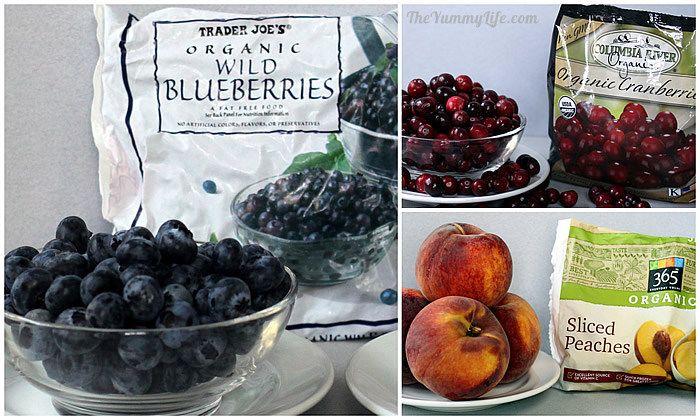 fresh and frozen fruit for Fruit & Spice Applesauce Blends