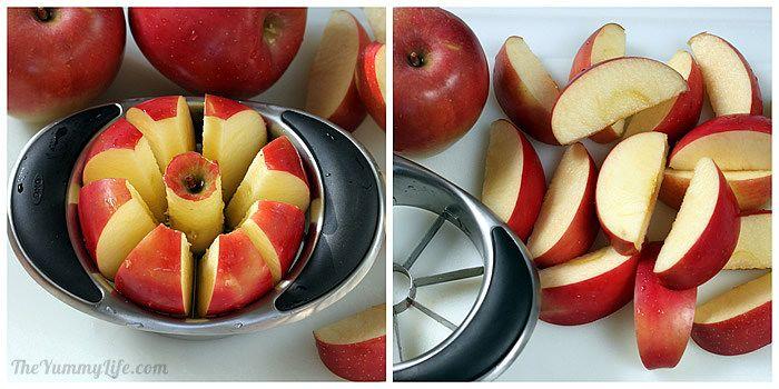 easy sliced apples for Fruit & Spice Applesauce Blends