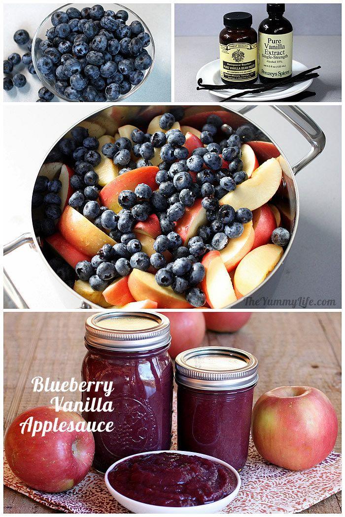 Blueberry Vanilla Applesauce