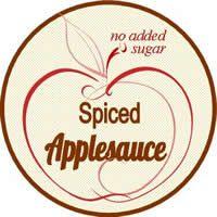 spiced applesauce label