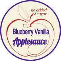 blueberry vanilla applesauce label
