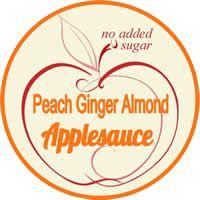 peach ginger almond applesauce label