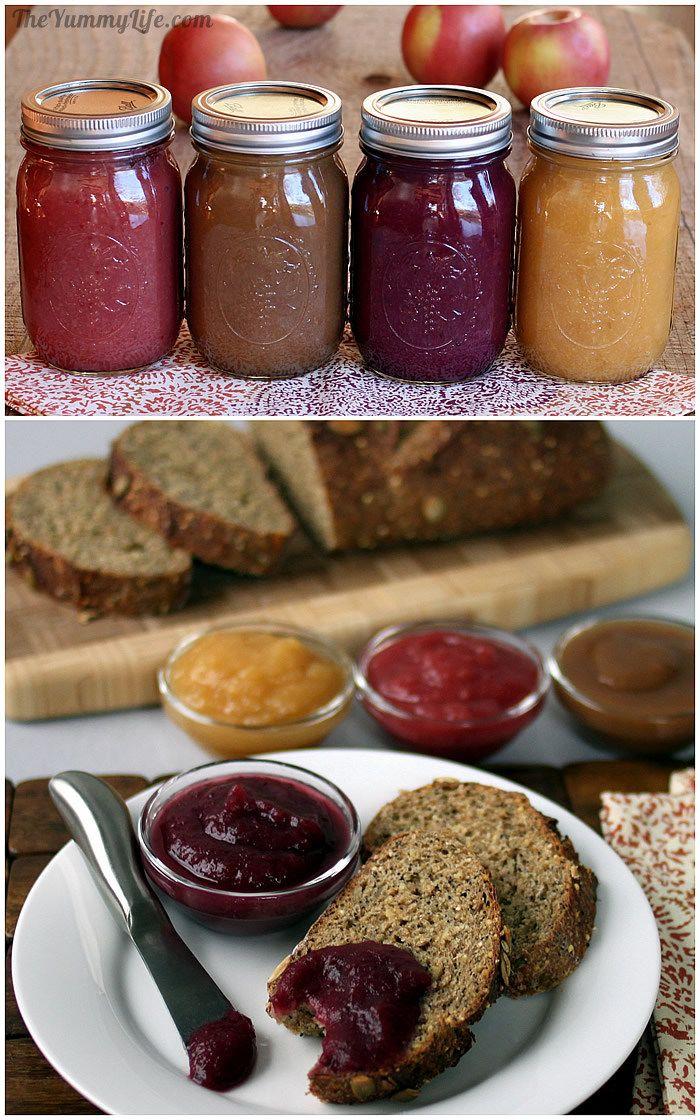 Fruit & Spice Applesauce Blends on toast