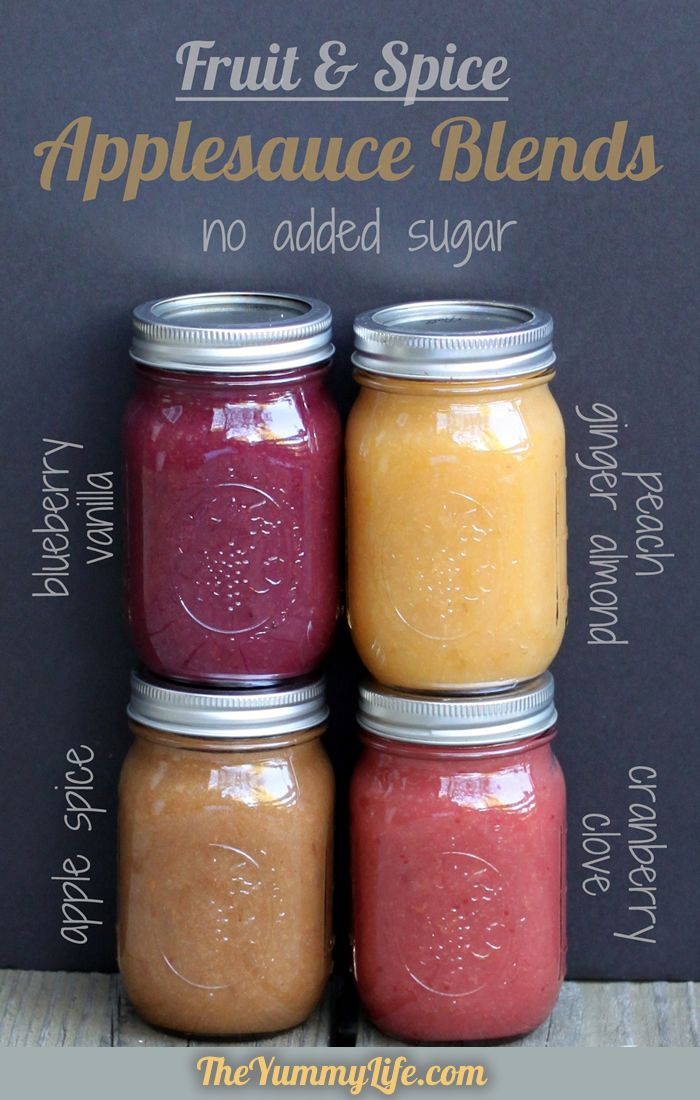 Fruit and Spice Applesauce Blends--slow cooker or stove