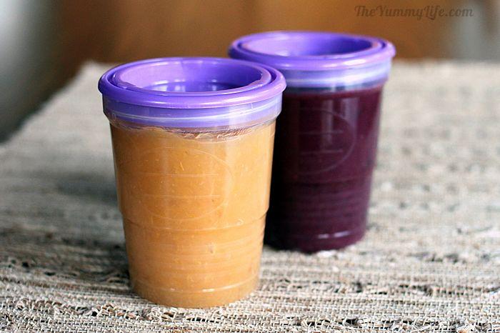 applesauce in freezer jars
