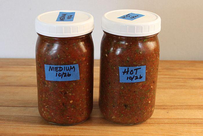 hot & mild salsa