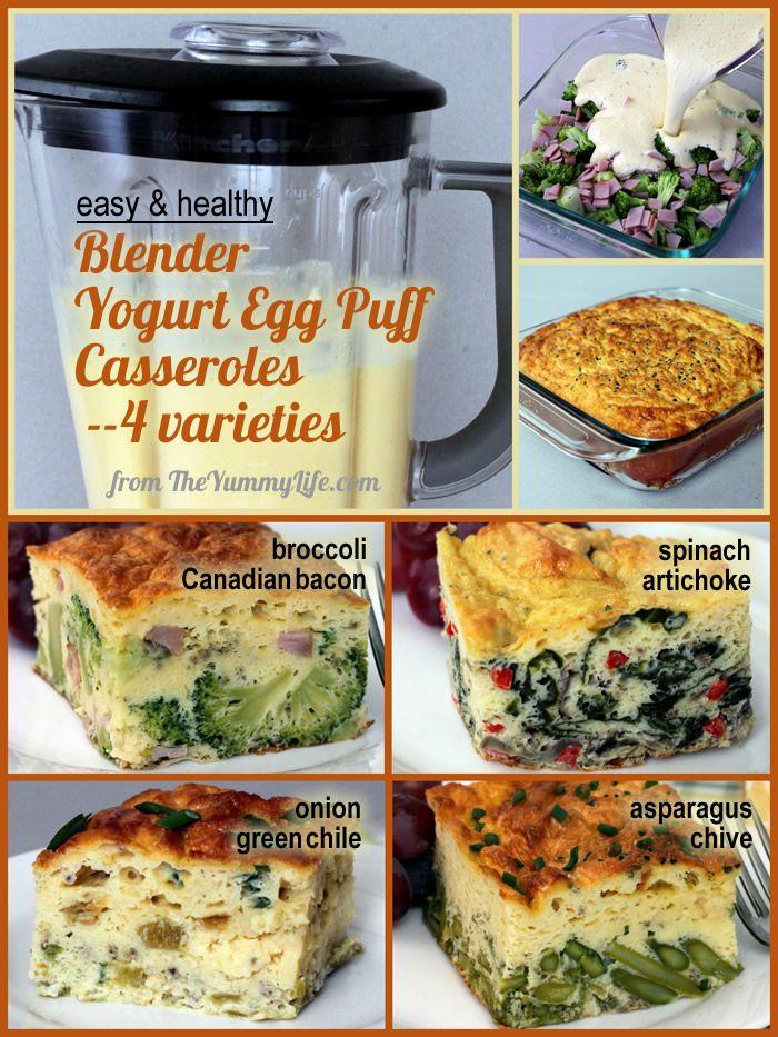 Blender Yogurt Egg Puff Casseroles