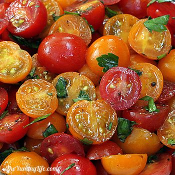 Marinated Cherry Tomato Salad