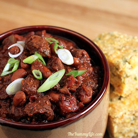 Thick Hearty Steak Chili