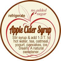 Apple Cider syrup jar label