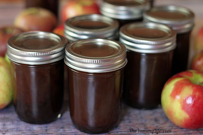 Apple cider syrup jars