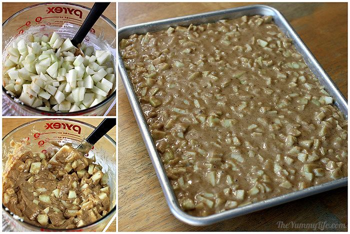 Adding apples to Gooey Whole Wheat Apple Bars