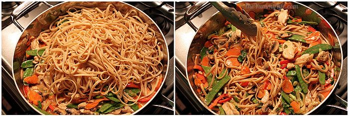 Adding pasta to Asian Peanut Noodles | The Yummy Life
