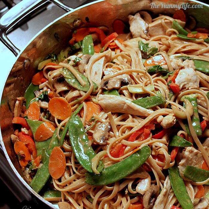 Skillet Asian Peanut Noodles | The Yummy Life