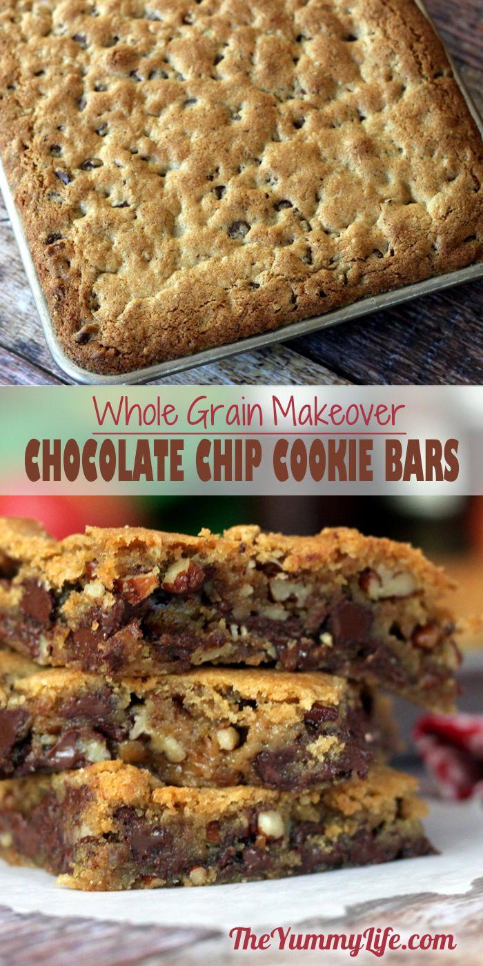 Whole Grain Chocolate Chip Cookie Bars
