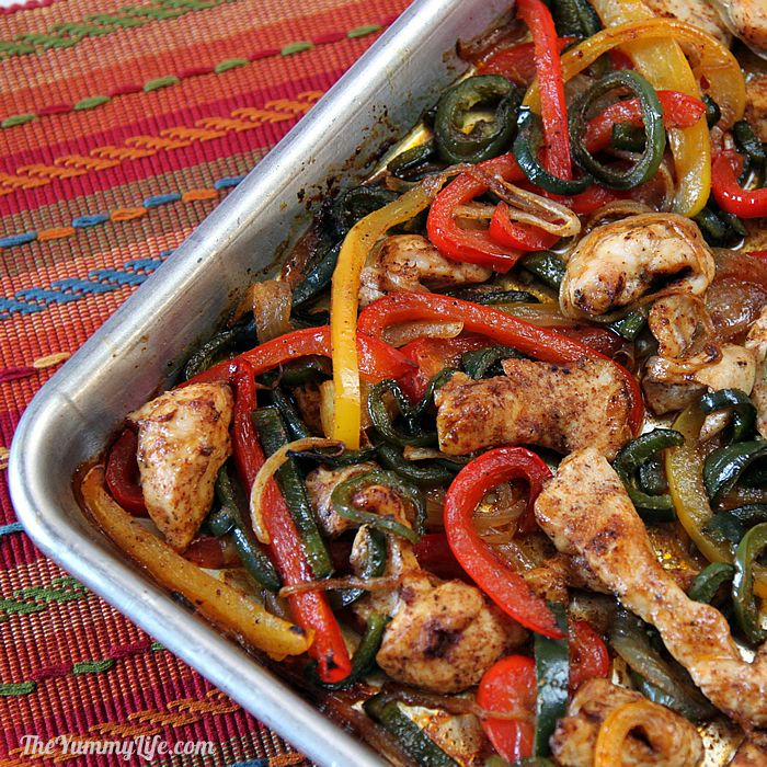 Easy Oven Baked Sheet Pan Chicken Fajitas A Quick No Fuss