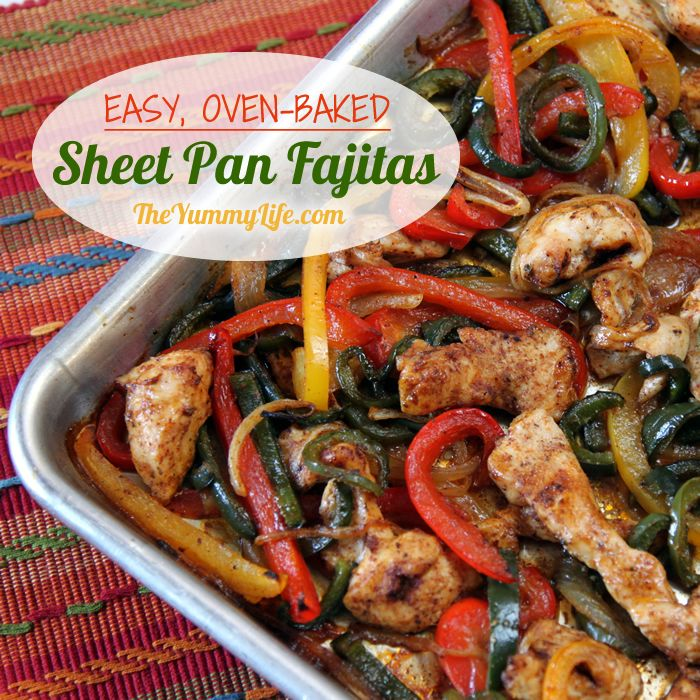 Easy oven baked sheet pan chicken fajitas easy oven baked sheet pan chicken fajitas a quick no fuss forumfinder