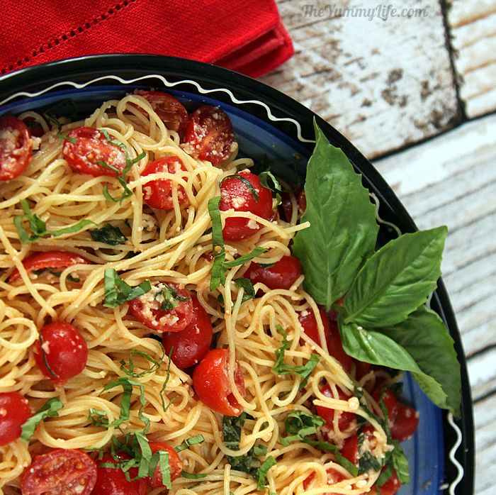 Easy Fresh No Cook Pasta Sauce With Cherry Tomatoes