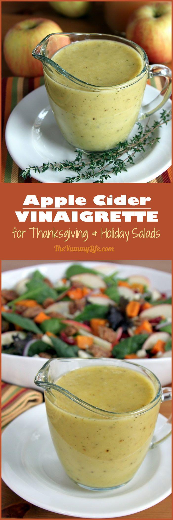 Apple Cider Vinaigrette For Dressing Autumn Salads