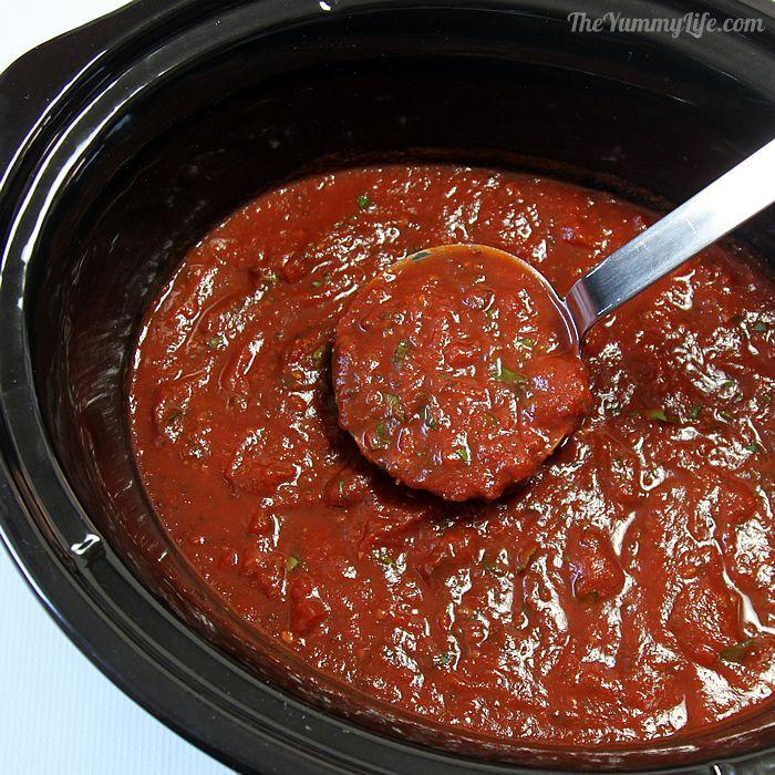 slow cooker rustic italian marinara sauce