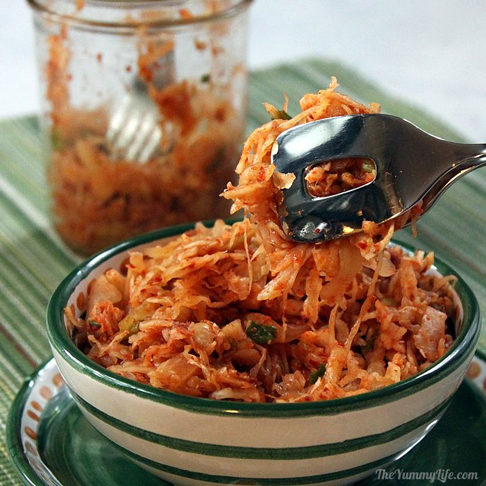 Quick and easy korean kimchi cabbage slaw a fast method for making this mildly spicy staple of korean cooking to complement korean tacos subscribe search recipes forumfinder Images