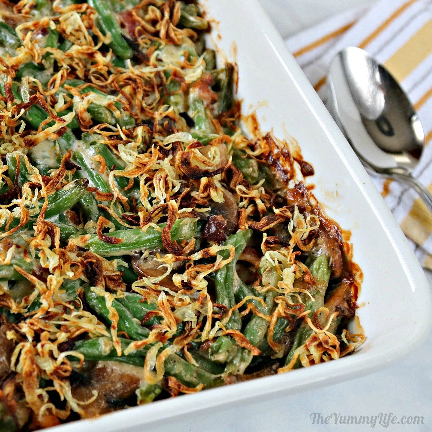 Green Bean Casserole With Bacon And Gruyere