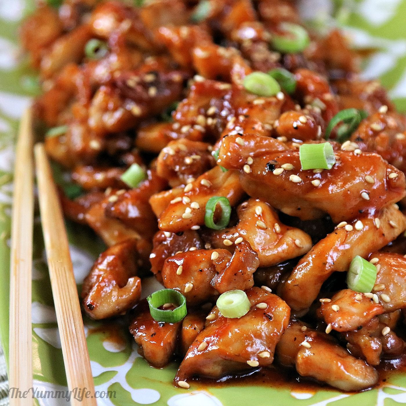 Easy Korean Sticky Chicken - This sweet and spicy recipe is ready in under 30 minutes.