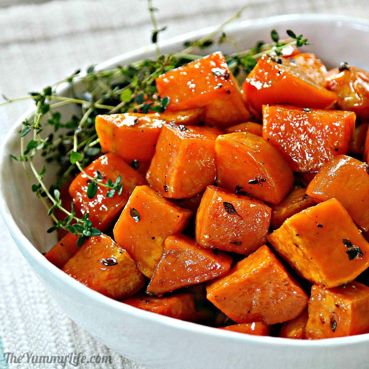 Honey Glazed Roasted Sweet Potatoes
