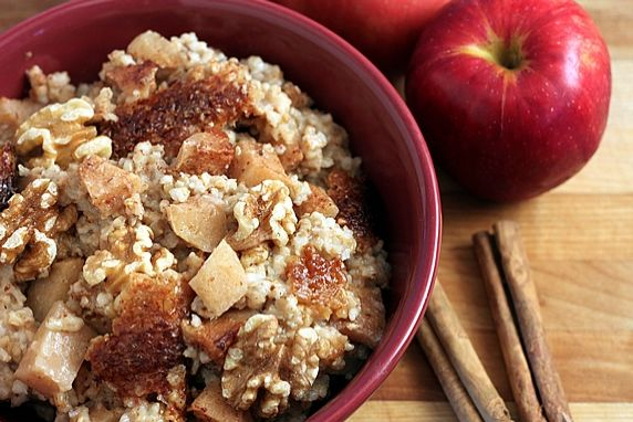 Make this the night before and wake up to the wonderful aroma of this nutritious, delicious, ready-to-eat breakfast. The oats, flax seed, apples, and cinnamon make this a healthy power house that will help you beat the hungries all morning.