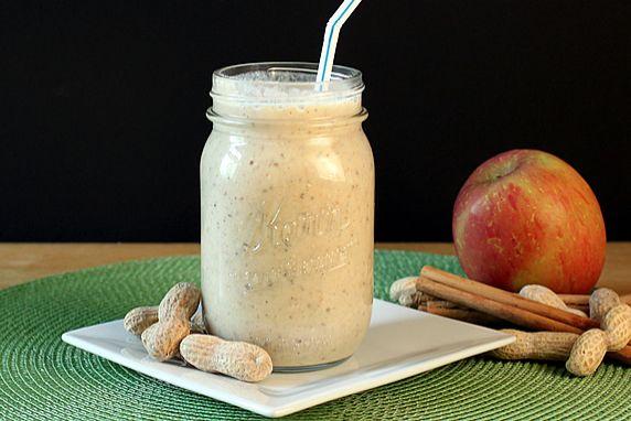 Apple, Peanut Butter, Cinnamon Oatmeal Smoothie