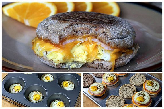 These popular breakfast sandwiches get a healthy makeover with the added convenience of making a big batch and freezing them for a quick, grab-and-go breakfast.