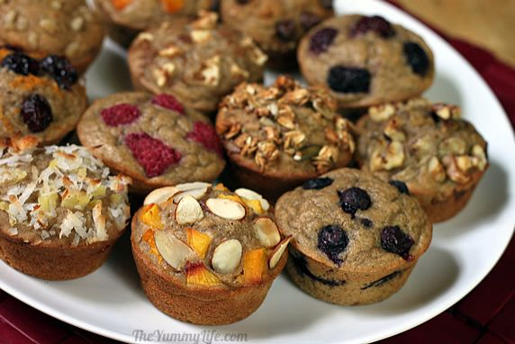 Keep this batter in the fridge so it's easy to bake fresh muffins throughout the week. Made with 100% whole grains and no added fat, you can make these a regular part of a healthy breakfast in each person's favorite flavor. One basic batter with endless flavor options.