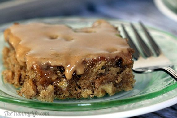 Apple cider syrup makes these moist cake bars over the top with apple flavor.  Serve as coffee cake in the morning or dessert in the evening.