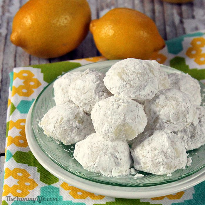 Lemon Snowball Cookies have a tender, melt-in-your-mouth texture and delicate lemony flavor. Make them egg-shaped for Easter. From TheYummyLife.com