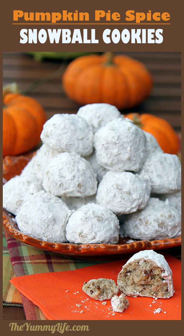 Pumpkin Spice Snowball Cookies are everything you love about the traditional version enhanced with the flavors of autumn. An easy, festive, and delicious treat.