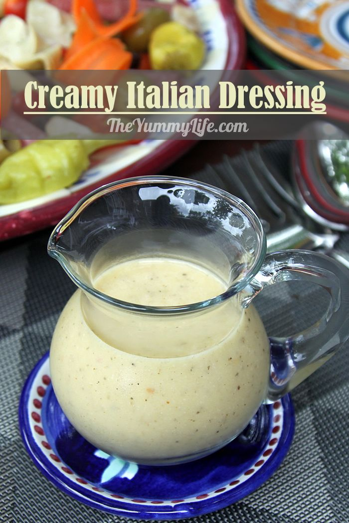 An Italian restaurant favorite and all-purpose dressing for salads, antipasto, and sandwiches. It also makes a great marinade for veggies and meat.  From TheYummyLife.com