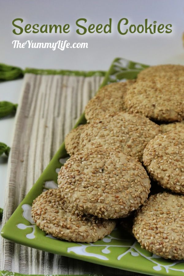 These Korean-inspired cookies have a nutty sesame flavor and pleasing texture--slightly crispy on the edges and soft in the center. Serve them with ice cream for a perfect closer to Korean, Chinese, and Japanese meals. From TheYummyLife.com #sesameseeds #cookies #Korean #bennewafers #dessert