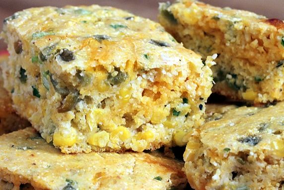 Chiles, corn, and sharp cheddar cheese, make this a flavorful recipe with the wholesome goodness of stone ground cornmeal. Great with chili & soup.