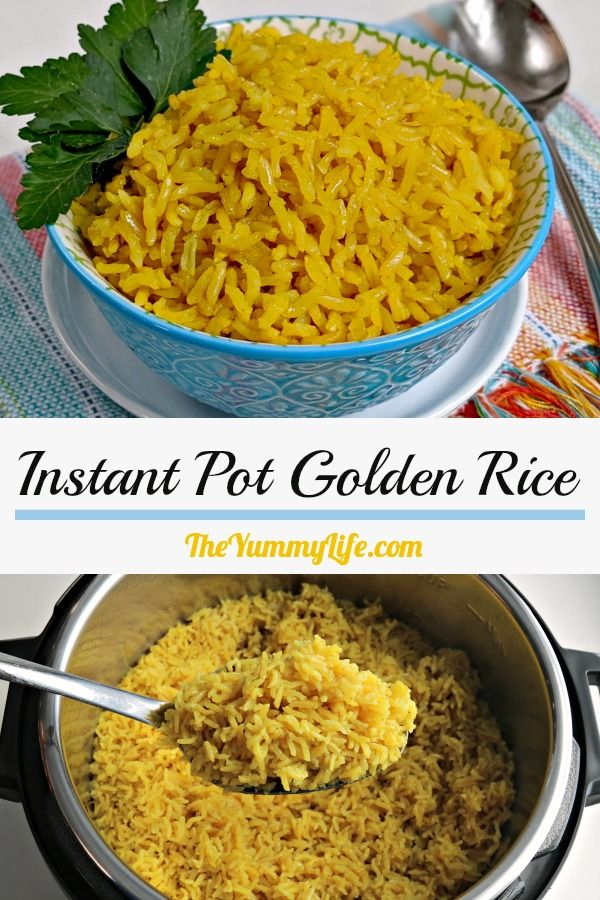 Serve this easy, healthy, vegan rice as a side with grilled veggies and meat/seafood, Indian or Thai food, or as a base for rice bowls. From TheYummyLife.com #coconutmilk #tumeric #InstantPot #healthy #vegan #glutenfree #ricebowls