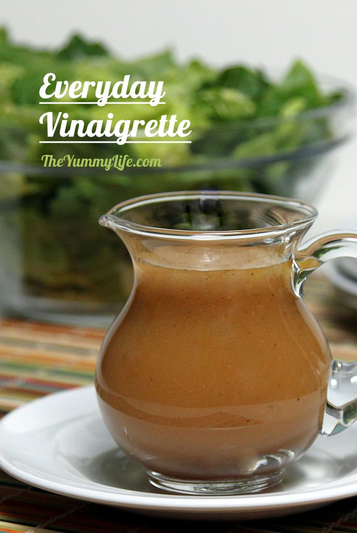 Everyday Vinaigrette. This simple, go-to dressing is perfect tossed with any bowl of salad greens. It is similar to the popular St. Louis Pasta House Famous Salad Dressing. From TheYummyLife.com