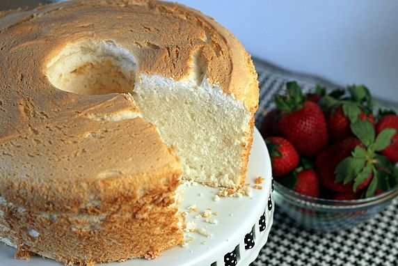 The light-as-a-cloud texture and flavor of angel food cake makes it an all-time favorite. It's delicious alone, or topped with berries, hot fudge sauce, and whipped cream.