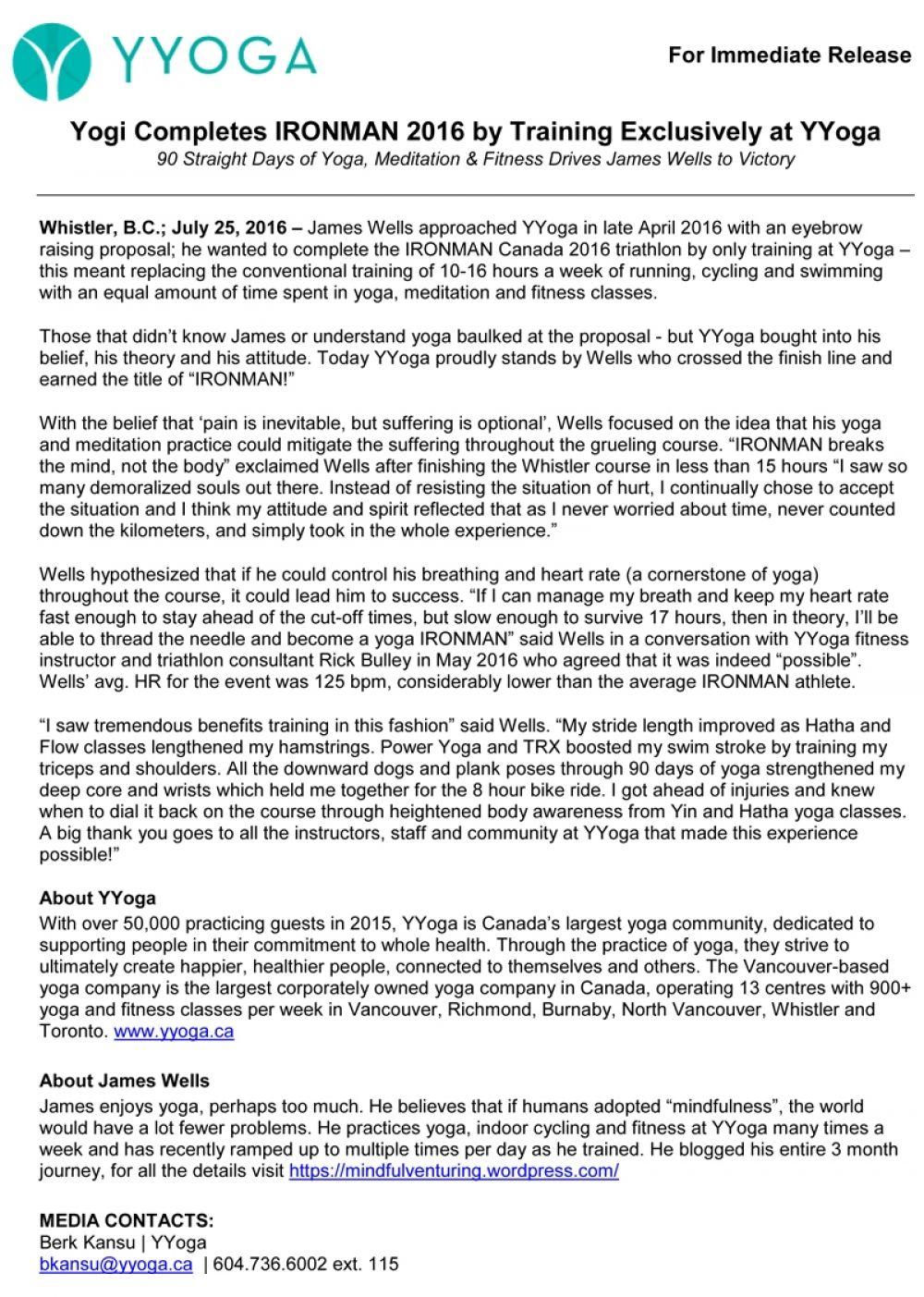 Release Yyoga Ironman Yogi