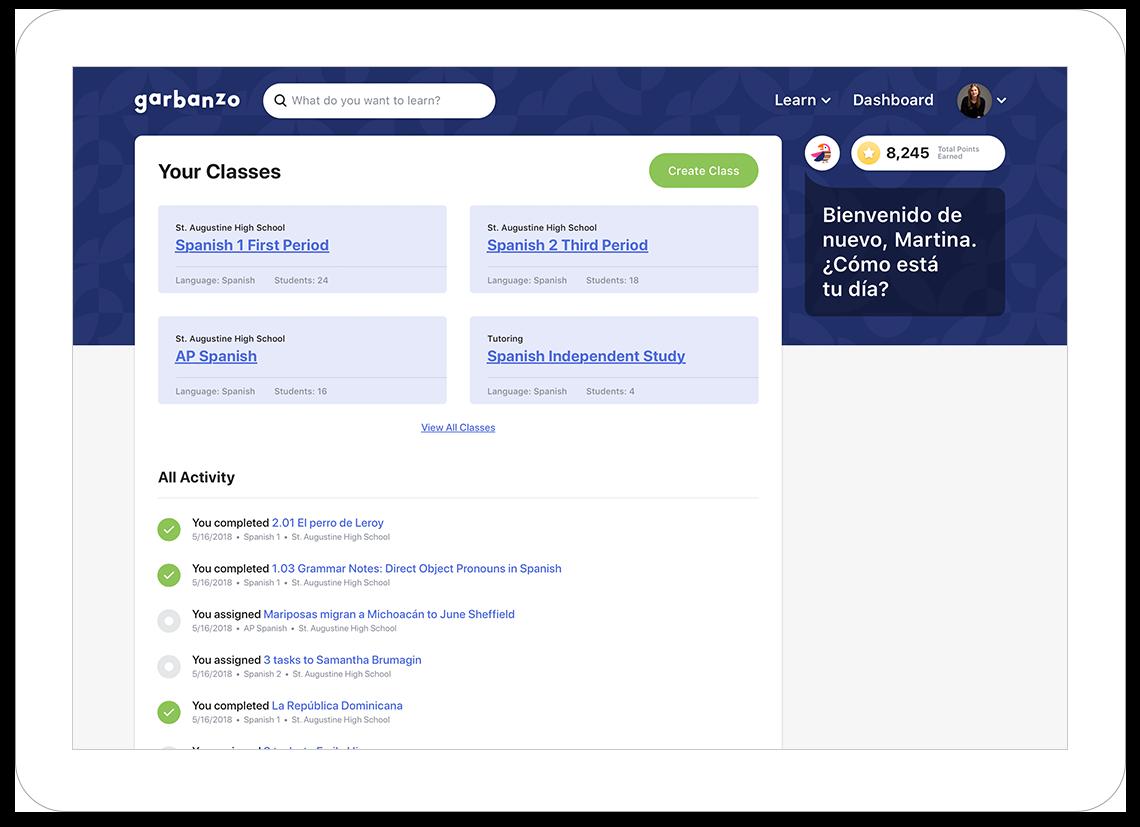 Web Learning App Dashboard