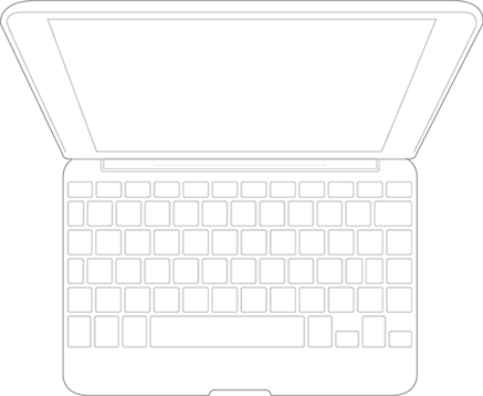 Zagg Keyboard Folio Cover Case Backlit Keys Bluetooth For