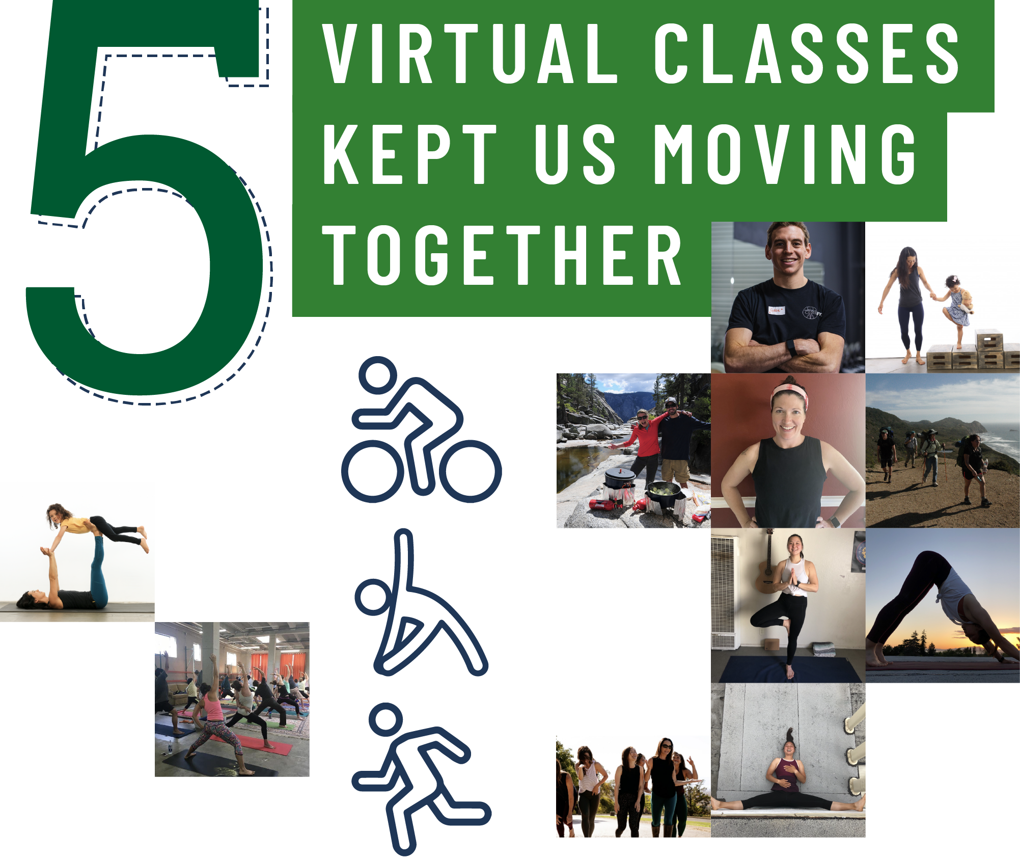5. Virtual classes kept us moving together